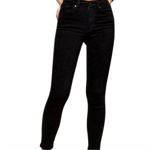 Topshop Black High Waisted Jamie Skinny Jeans